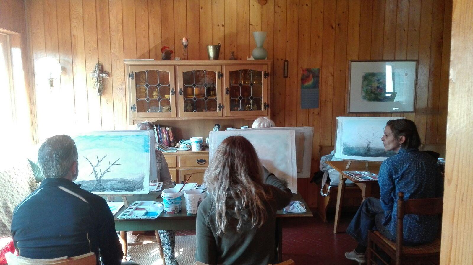 lezioni di pittura, primavera, velature, acquarello, Elena Pircali