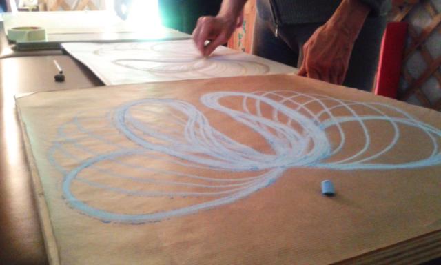 Disegno di forme, otto armonico